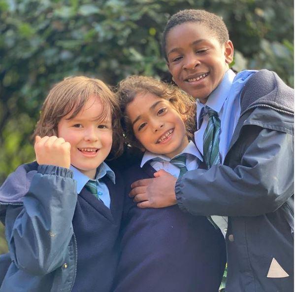 Arat Hosseini with his school friends in England