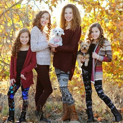 Gracie Haschak with her Haschak sisters