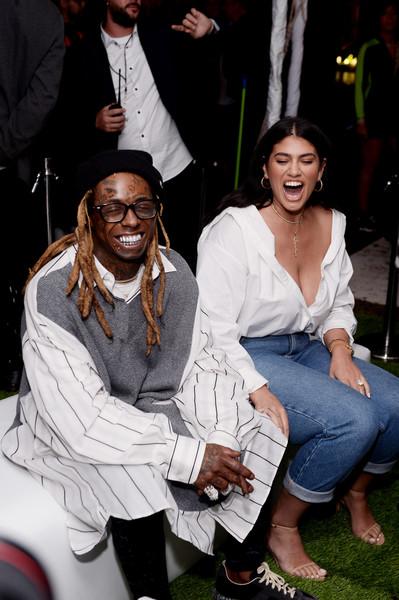 Latecia Thomas with Lil Waynes
