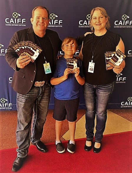 Andrew Koponen with his wife and son in 2019 California Independent Film Festival Source: The California