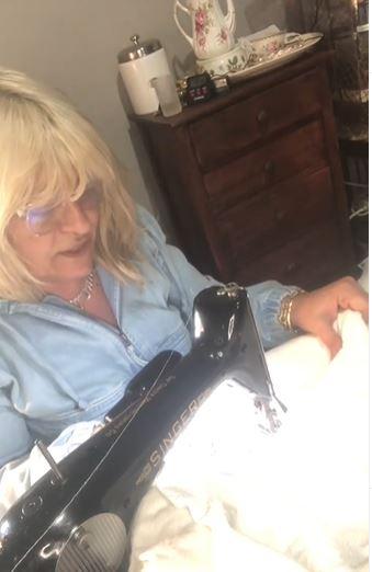 Antonella Nester sewing Quilt