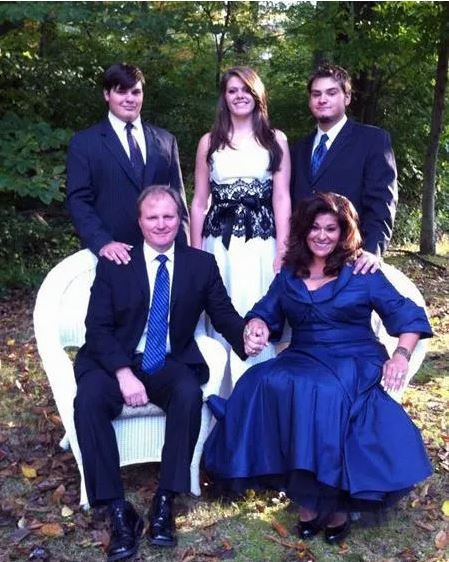 Antonella Nester with her husband and children