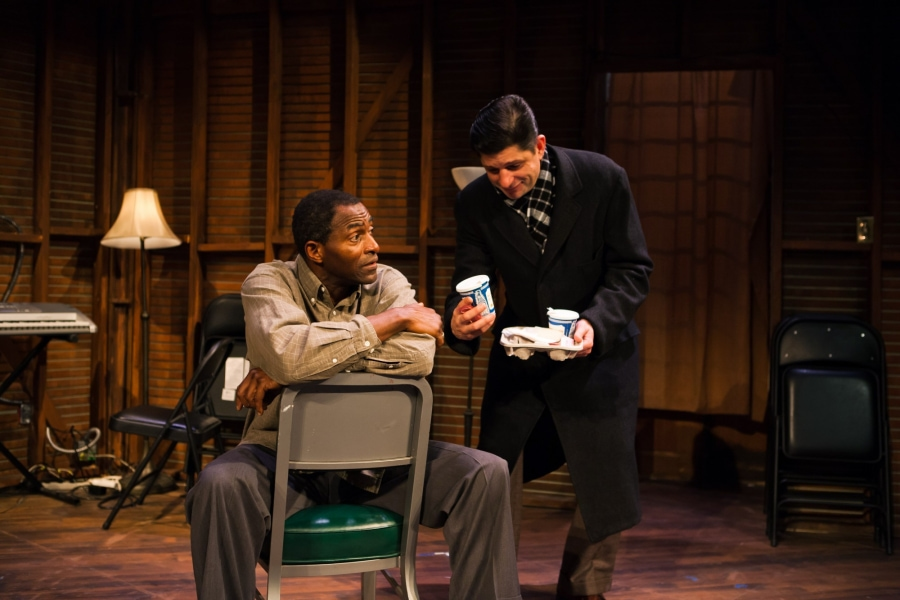 Carl Lumbly and Gabriel Marin for the play StoreFront Church 2013