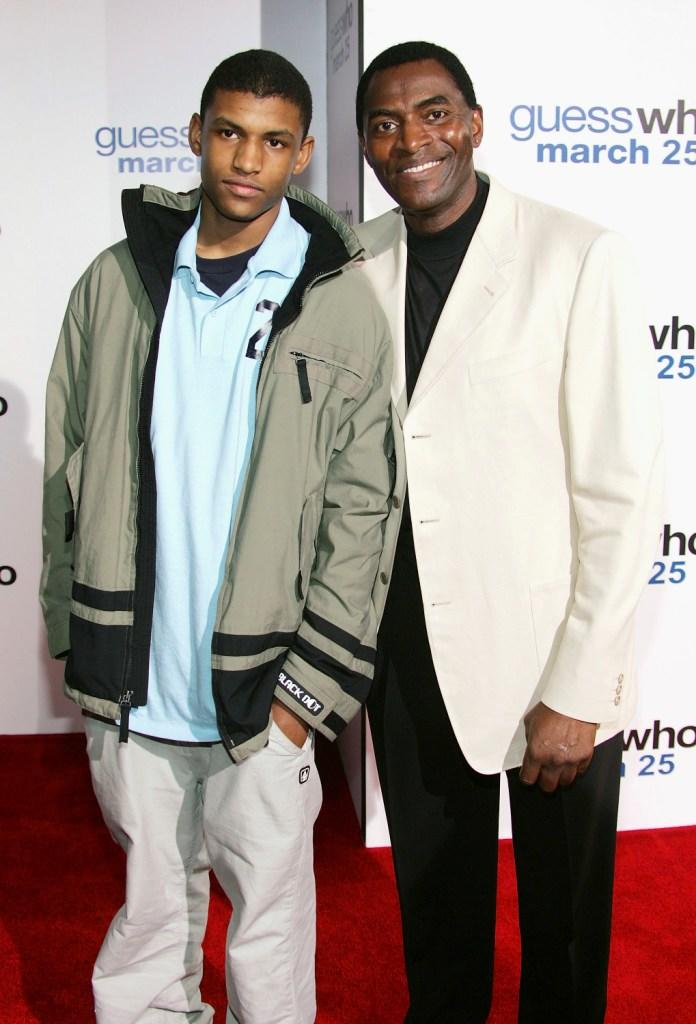 Carl Lumbly with his son Brian