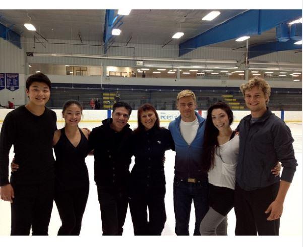 Corky Ballas with his team as a choreographer