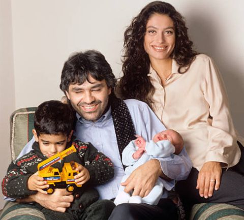 Enrica Canzatti with her husband and children