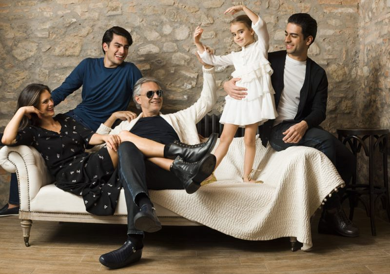Enrica Canzatti with their children and husband