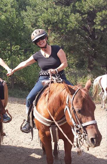 Etienne Vick enjoying horse riding