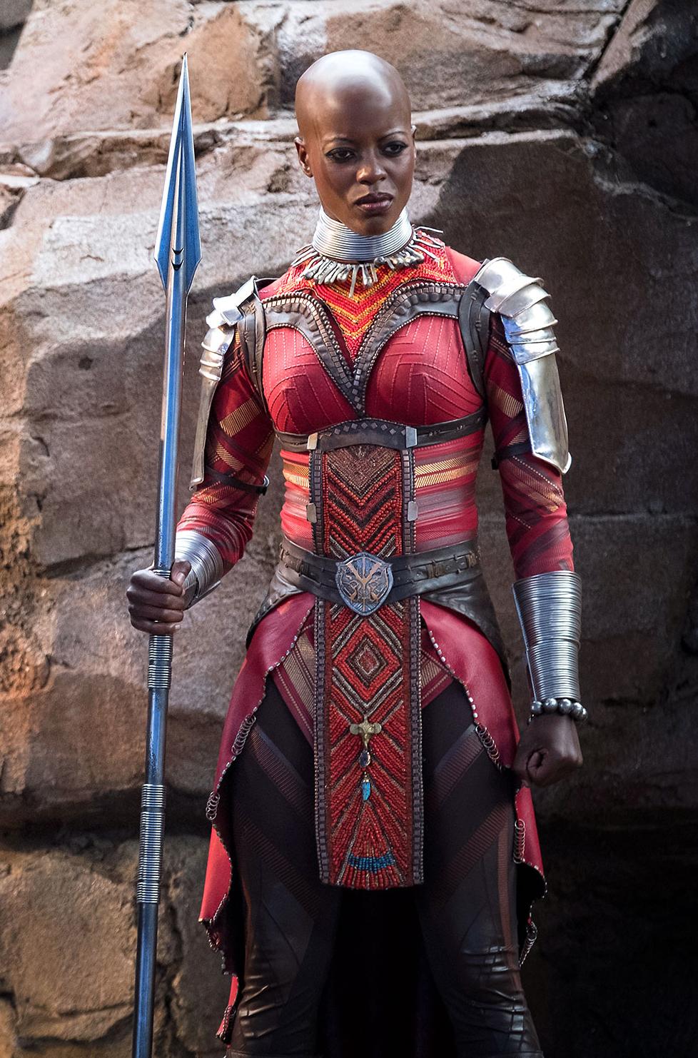 Florence Kasumba in the film Black Panther as Ayo