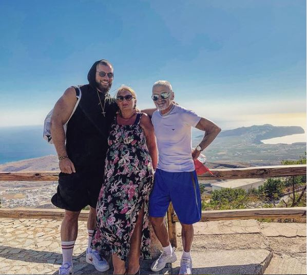 Florian Munteanu with his family