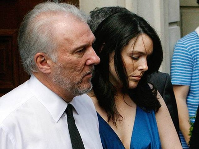 Jill Popovich with her father after the death of her mother