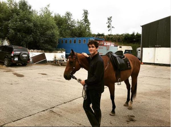 Jonah Hauer-King with his horse