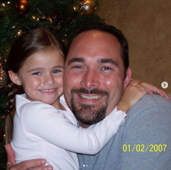 Megan Nutt's childhood photo with her father