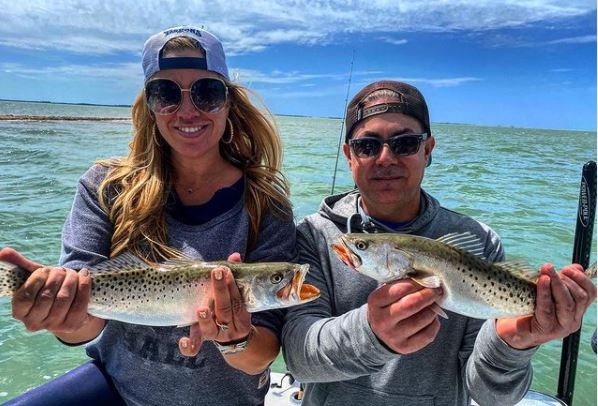 Meredith Marakovits Fishing with her friend