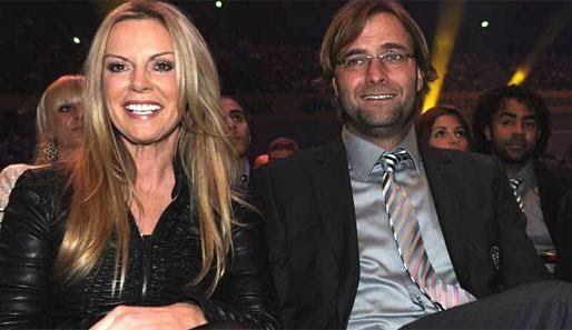 Jurgen Klopp with his current wife, Ulla Sandrock