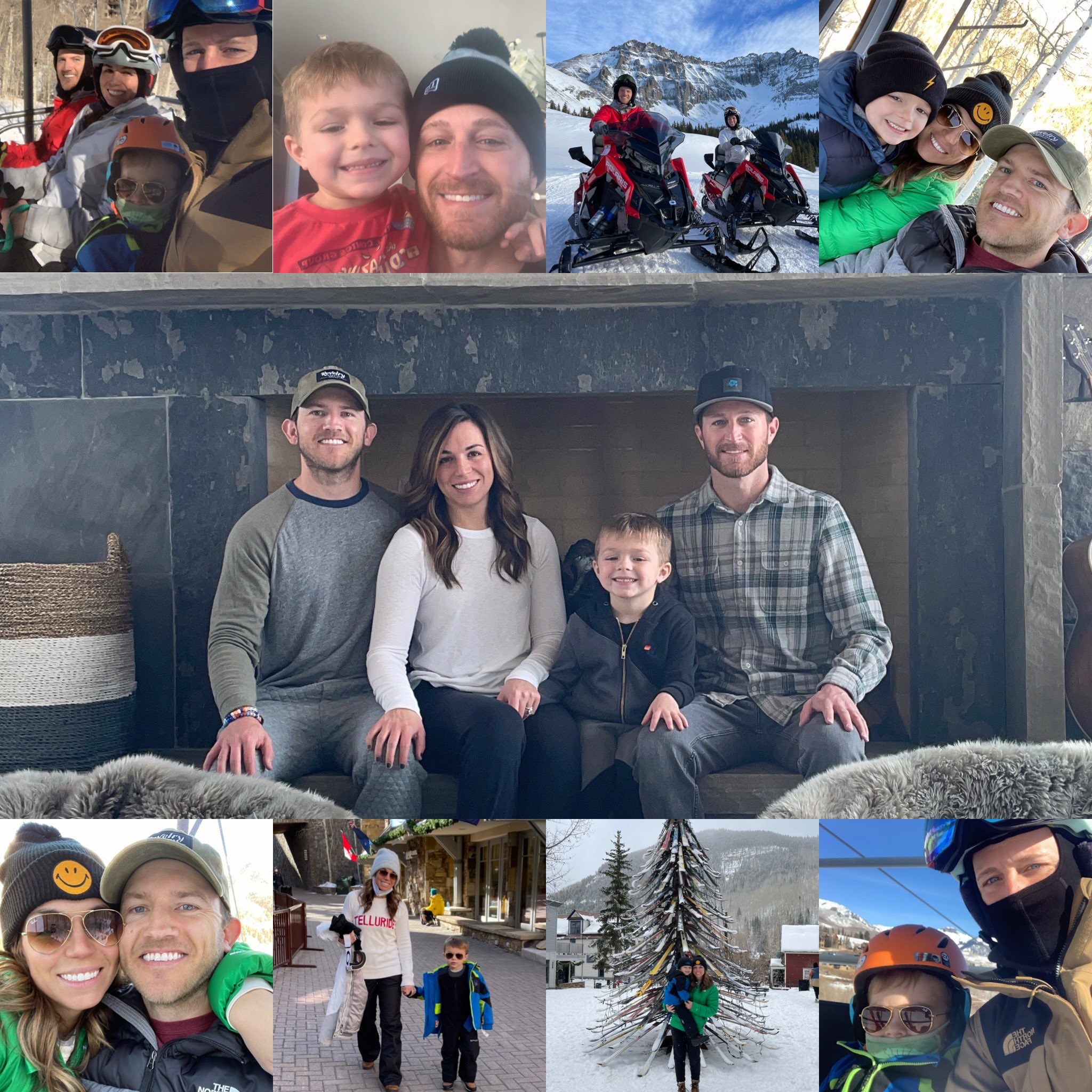 Samantha Sheets on holiday together with Kase Kahne, son and husband