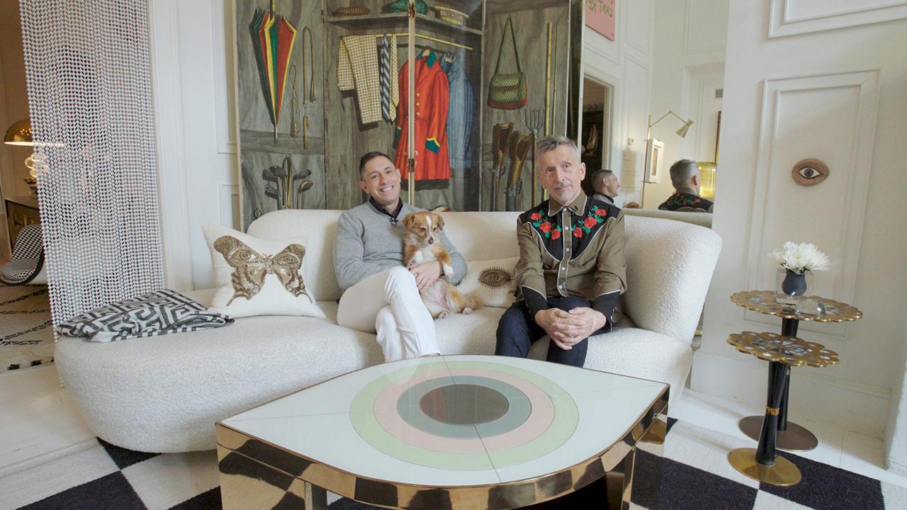 Simon Doonan and Jonathan Adler in their luxury villa