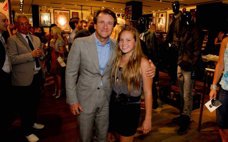 Skye Herjavec with her father