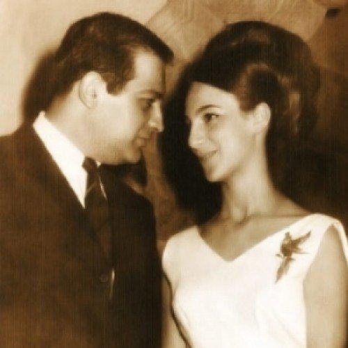 Soumaya Domit in her wedding with Carlos Slim