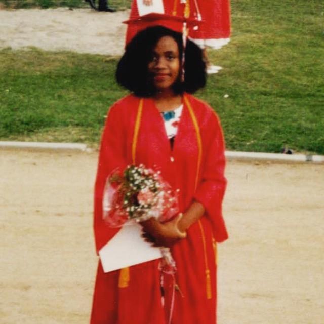 Tanya Acker in her high school graduation