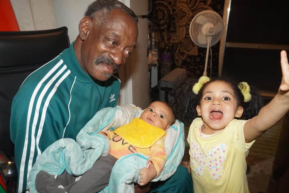 Vernell Varnado with his grandchildren