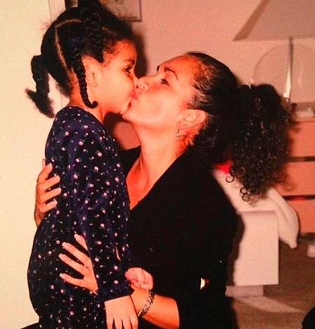 Yvette Deleone with her daughter Sierra Pippen