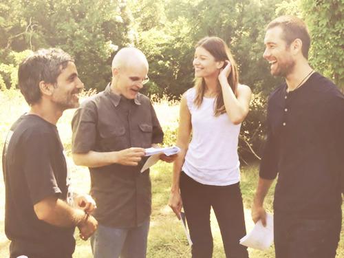 Zeljko Ivanek with his film crews 2014