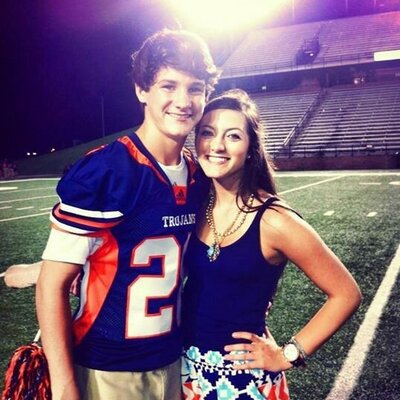 Baylor Barnes with his girlfriend