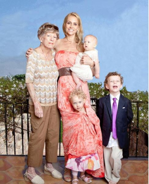 Erin Sutton with her Mother-in-law and children