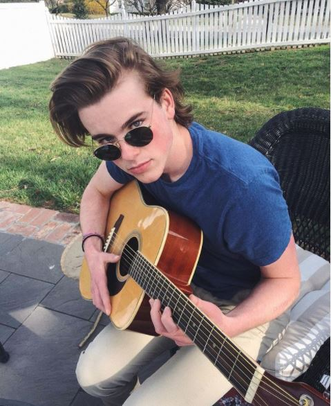 James Neese with his guitar