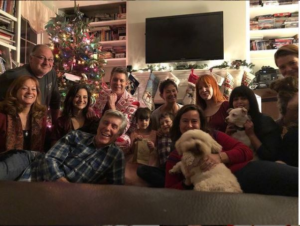 Lois Bergeron and her family in Christmas