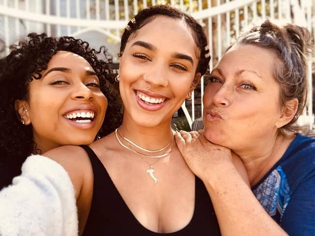 Natalie-Odell with her sister and mother
