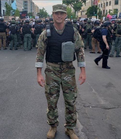 Pete Hegseth in DC Army National Guard