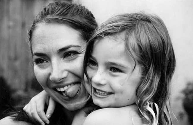 Rebecca Mcbrain and her daughter Meadow