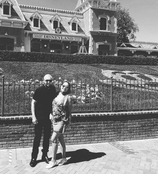 Susan Pinsky in Disneyland with her husband