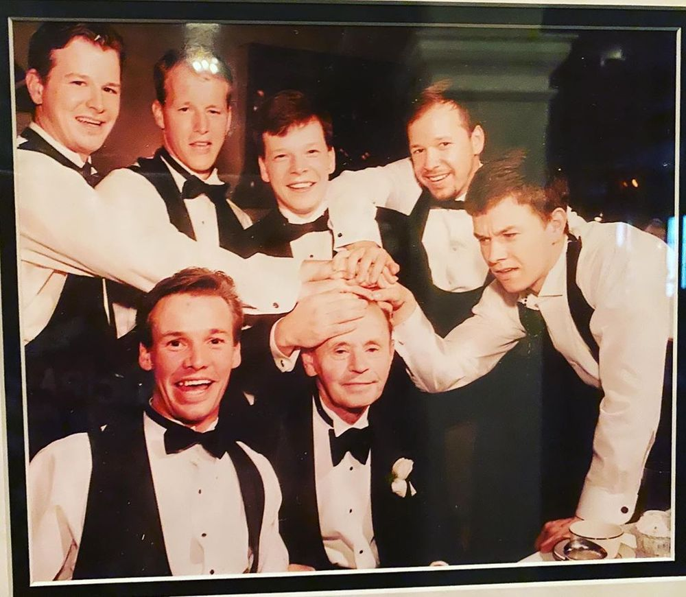 Wahlberg Brothers with their father