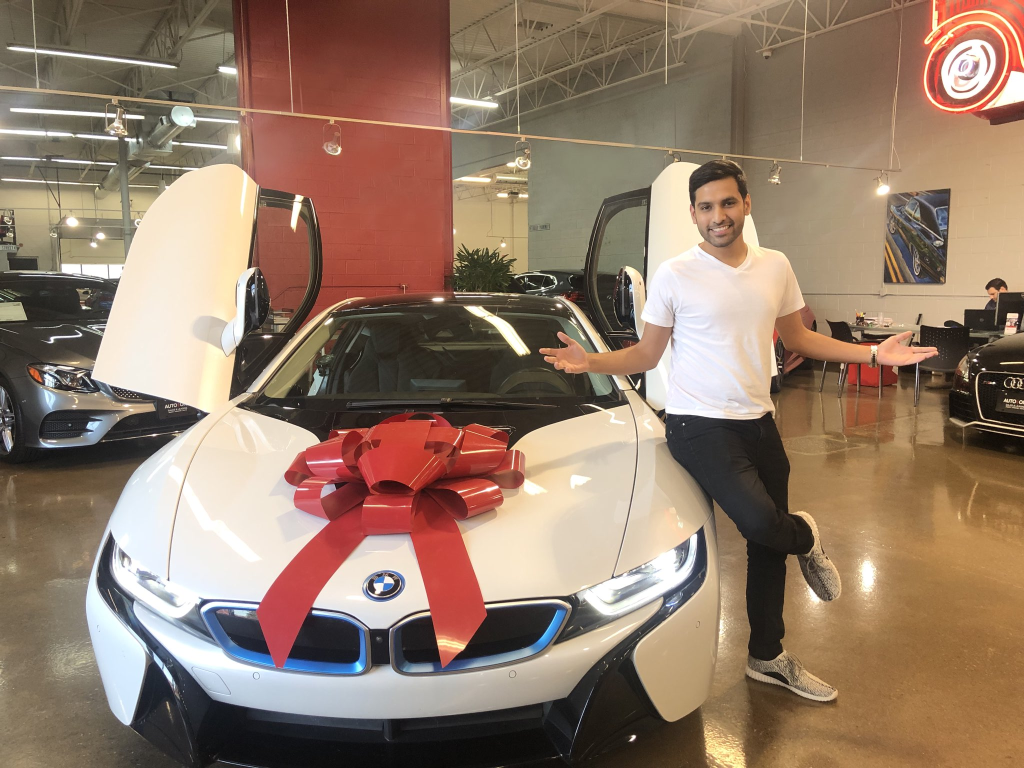 Zaid Ali after buying his Dream Car