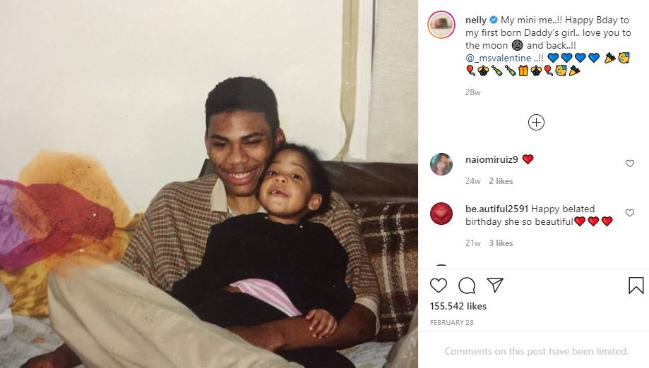 Chanelle Haynes and her father, Nelly